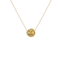Load image into Gallery viewer, Recyled Gold Necklace with gold ball. The Prophecies of Pythia Pendant, Greek Mythology by Haute & Heir at Natural x Lab