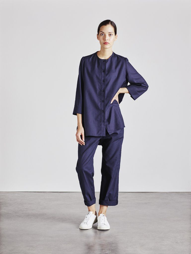 The Bethan Shirt in Navy