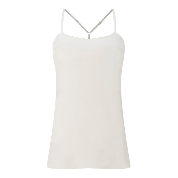 White Silk racer back Cami Natural x Lab, Reve en Vert, Liberty of London, Matches Fashion