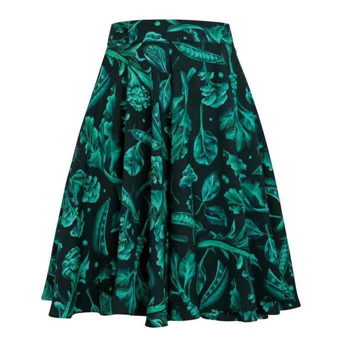 Protein Green vegtable and black Wrap mini Skirt by Gung Ho avalible at Natural x Lab