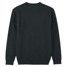Load image into Gallery viewer, Black Café & Croissant Sweatshirt Organic Cotton Jumper by French Kiss Studio at Natural x Lab Sustainable Luxury