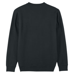 Black Café & Croissant Sweatshirt Organic Cotton Jumper by French Kiss Studio at Natural x Lab Sustainable Luxury