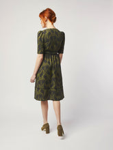 Load image into Gallery viewer, Wrap Dress with Brass Buttons by Dagny
