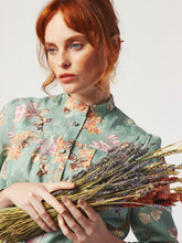 Load image into Gallery viewer, Zady in Sage Floral Shirt Dress by Dagny at Natural x Lab