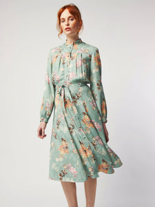 Zady in Sage Floral Shirt Dress by Dagny at Natural x Lab