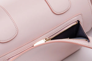 Pink Vegan Leather Yoga Bag by Saia London Harrods Natural x Lab