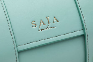 Teal Vegan Leather Yoga Bag by Saia London Harrods Natural x Lab