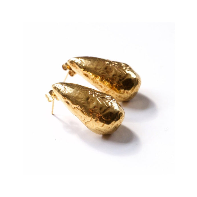 Recyled Gold Two drops in the ocean earrings by Haute & Heir