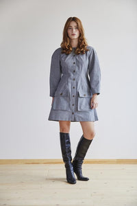 Freya Dress in Pewter