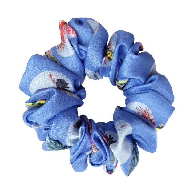 Sustainable Fabric Hair Tie Gung Ho Silk Blue Hair Tie