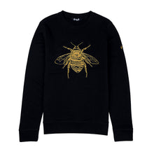 Load image into Gallery viewer, Silk Embroidered Bee Jumper, wolf and badger, Reve en Vert, House of Hackney