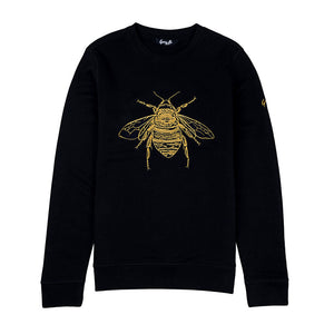 Silk Embroidered Bee Jumper, wolf and badger, Reve en Vert, House of Hackney