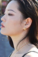 Load image into Gallery viewer, Women wearing Gaia & Atlas Studs Recylced Gold Earrings by Haute & Heir avalible at Natural x Lab