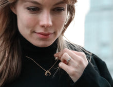 Load image into Gallery viewer, Recyled Gold Necklace the half Moon and hunt by Haute & Heir at Natural x Lab