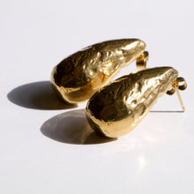 Load image into Gallery viewer, Recyled Gold Two drops in the ocean earrings by Haute & Heir