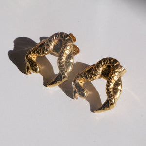 Artemis Earrings recylced gold, by Haute & Heir avalible at Natural x Lab