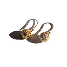 Load image into Gallery viewer, Recycled Gold Greek Mythology Forge & Fire Drop Earrings by Haute & Heir at Natural x Lab