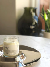 Load image into Gallery viewer, Neroli and Basil Vegan Soy Candle uk in Clear recylced glass jam jar