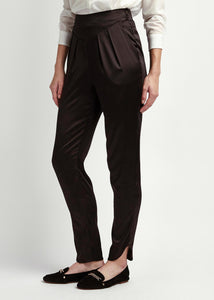 Womens Black Silk Tailored Trousers, Nautal x Lab, reve en Vert, Matches, Browns, Lncc, Mamie