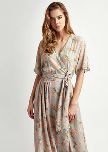 Handmade Liberty of London Print Dress , maxi silk, Net-a-porter reve en vert, matches, Mamiee