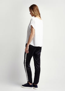 Womens Navy and cream silk tailored trousers Natural x Lab, Reve en Vert Net-a-porter Browns Matches