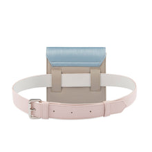 Load image into Gallery viewer, Blue, pink and grey Vegan belt bag by Mashu
