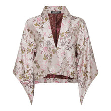 Load image into Gallery viewer, Fortuna Kimono Jacket 100% Silk and Embroidery by Alexandra Long avalible at Natural x Lab, sustainble Luxury, Limited Edition