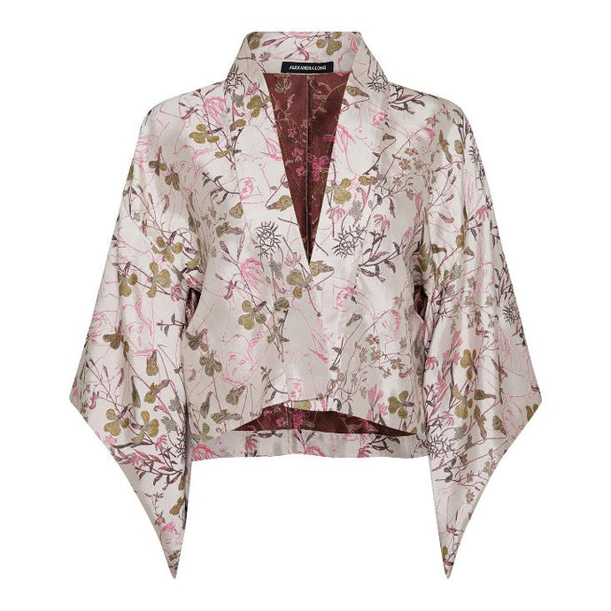 Fortuna Kimono Jacket 100% Silk and Embroidery by Alexandra Long avalible at Natural x Lab, sustainble Luxury, Limited Edition