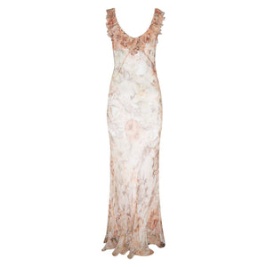 Venus Dress, chiffon silk see-through maxi dress by Alexandra Long avalible at Natural x Lab Limited Edition