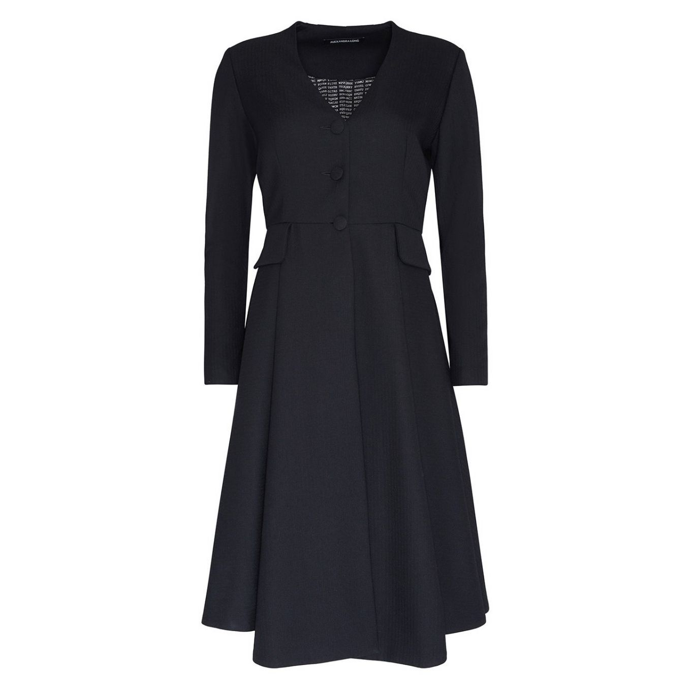 Winifred Black Coat Dress by Alexandra Long avalible at Natural x Lab