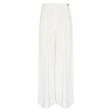 Load image into Gallery viewer, 100% Silk Wide Leg Pandora Trouser in Off White by Alexandra Long by Natural x Lab