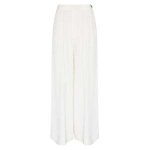 100% Silk Wide Leg Pandora Trouser in Off White by Alexandra Long by Natural x Lab