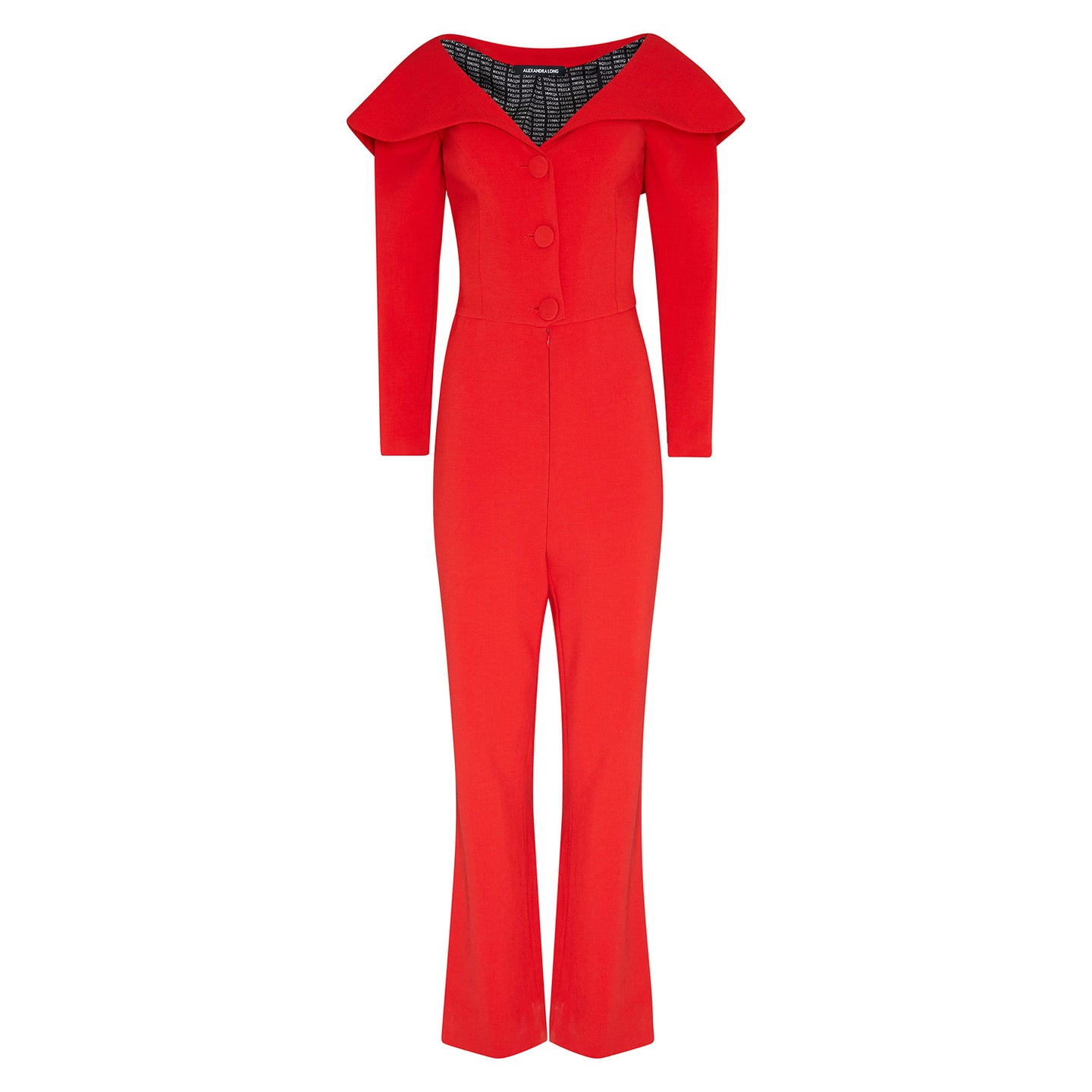 Red Kylie Minogue Jumpsuit by Alexandra Long avalible at Natural x Lab