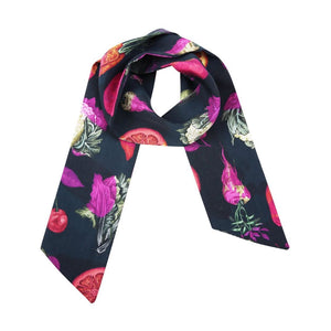 Pink and Balck 100% silk Pesticide Neck Scarf by Gung Ho at Natural x Lab