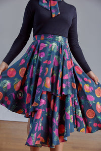 Wrap Skirt in Pesticide print by Gung Ho London