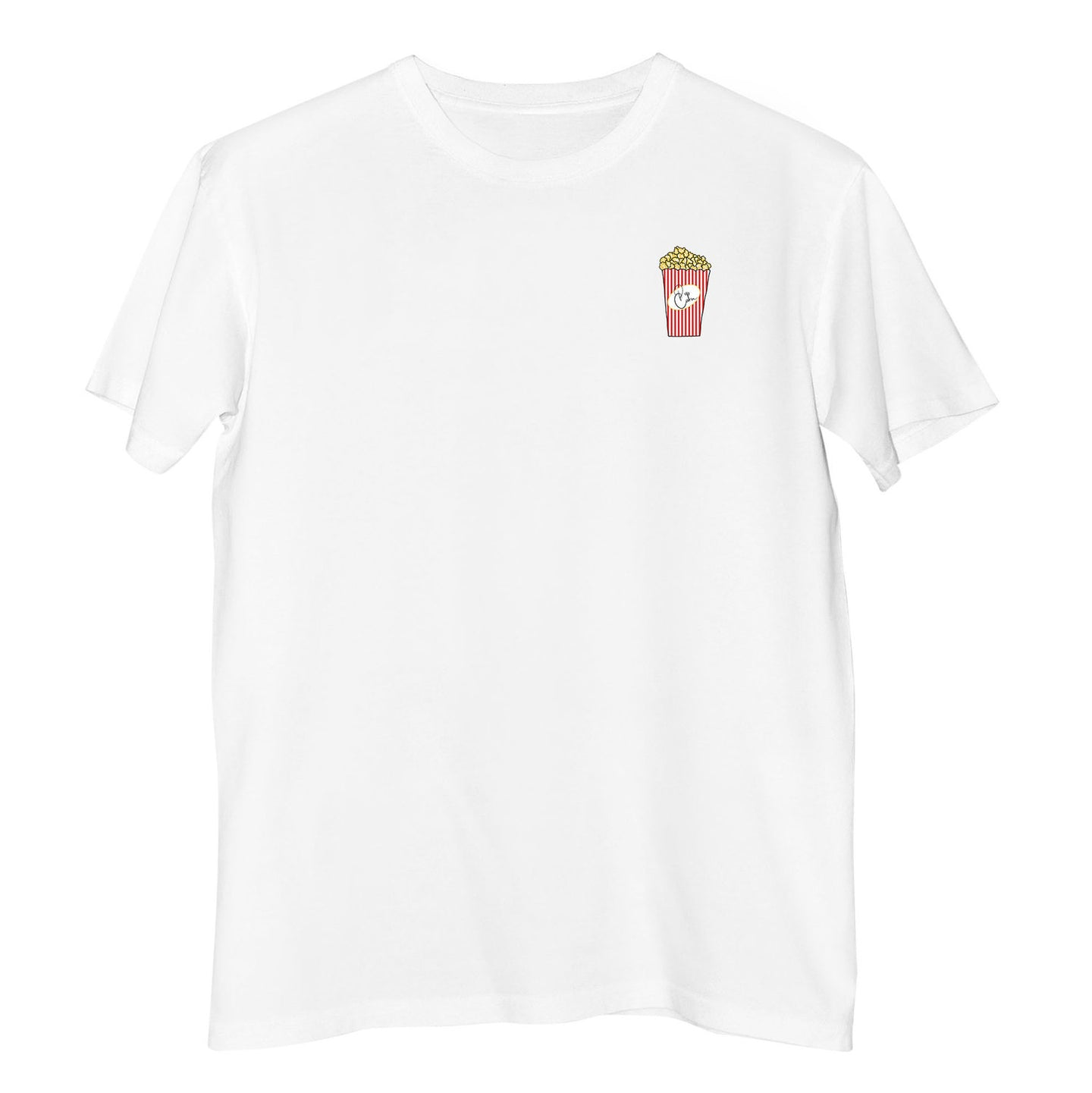 100% Organic Cotton T-shirt with pop corn by French Kiss Studio