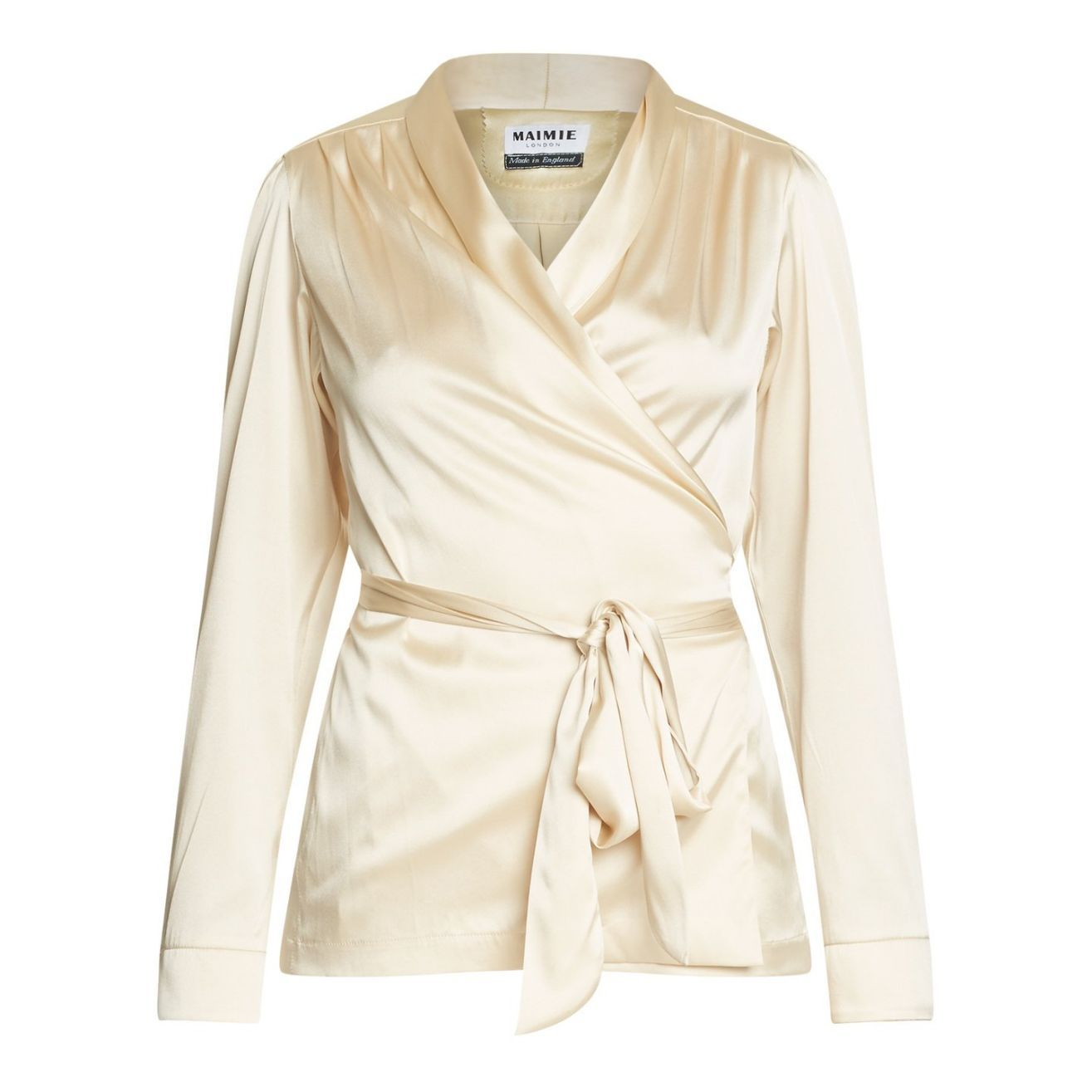 Silk Jacket in an Oyster Pearl, Natural x Lab, Reve en Vert, Matches Fashion, Browns Fashion, Mamie