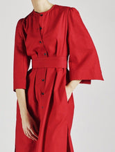 Load image into Gallery viewer, Raminta Shirt Dress in Red