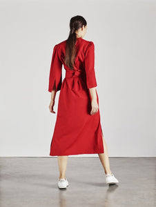 Raminta Shirt Dress in Red back