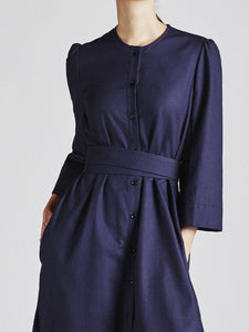 Raminta Shirt Dress in Navy