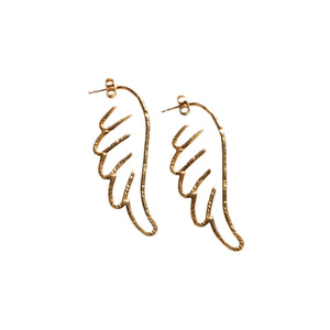 Periphas & Phene Angel Wing  Recylced Gold Earrings by Haute & Heir avalible at Natural x Lab
