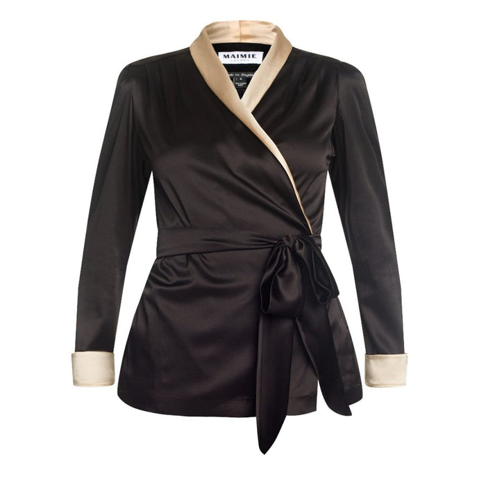 Black and Cream Silk Jacket, Natural x Lab, Reve en Vert, Liberty of London, Matches Fashion