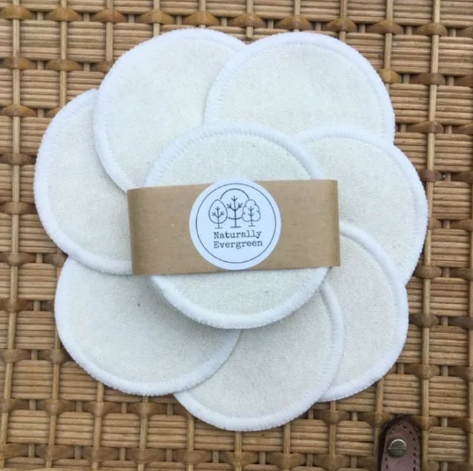 Eco-Friendly Reusable Make up Pads, Organic Hemp Rounds 7 pack