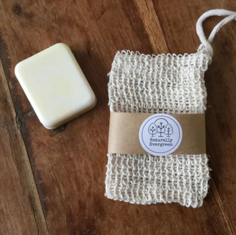 Exfoliating Soap Bag Organic Hemp Eco Friendly