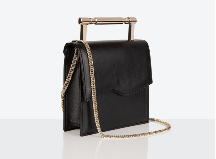 small Vegan Leather Bag in black by Mashu at Natural x Lab Apple Leather