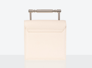 small Vegan Leather Bag in Cream by Mashu at Natural x Lab Apple Leather