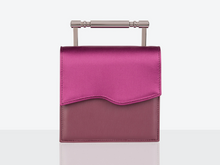 Load image into Gallery viewer, Iris Riviera Pink Satin and Vegan Leather Bag by Mashu avalible at Natural x Lab