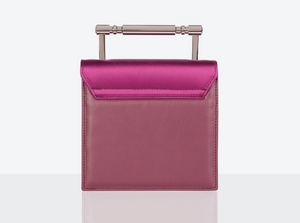 Iris Riviera Pink Satin and Vegan Leather Bag by Mashu avalible at Natural x Lab