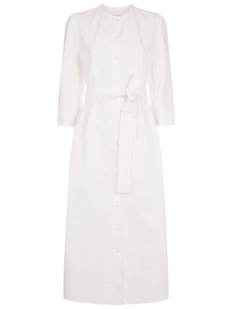 The Raminta Shirt Dress in White