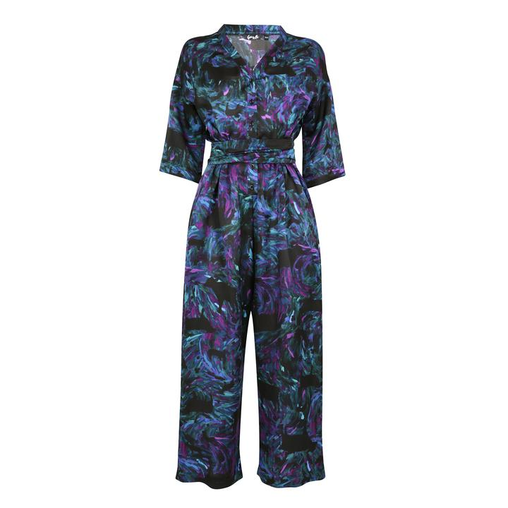 Water Jumpsuit 100% Silk by Gung Ho London avalible at Natural x Lab